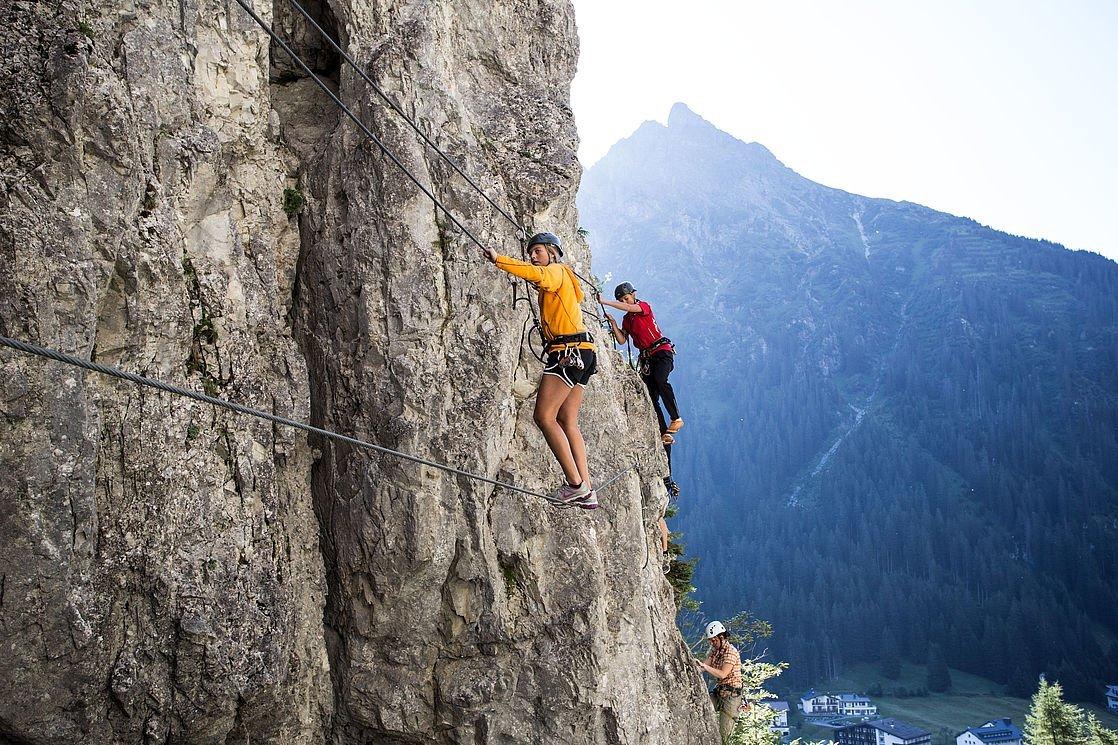 Klettersteig Montafon : Klettersteige in gargellen bradabella im montafon